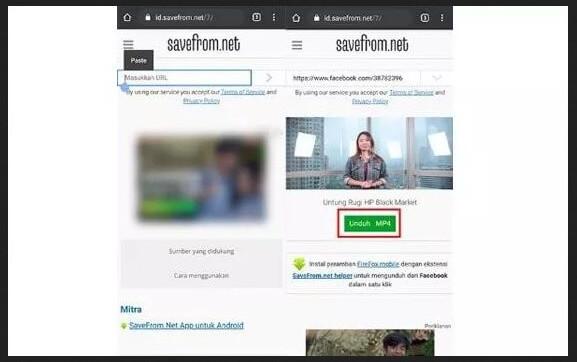 Cara Download Video di Facebook dengan Savefrom