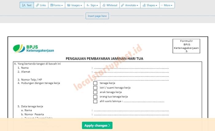 Cara Mengisi Formulir PDF Secara Online