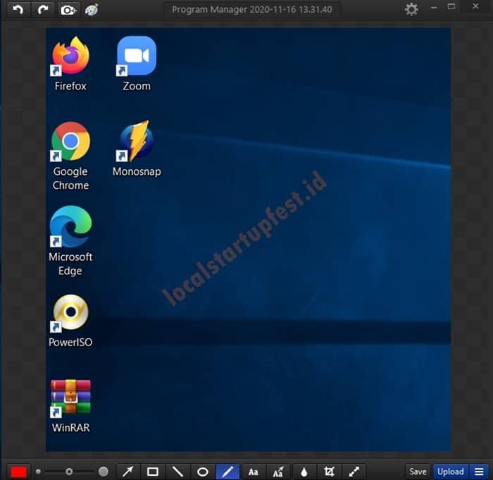Cara Screenshot dengan monosnap 12