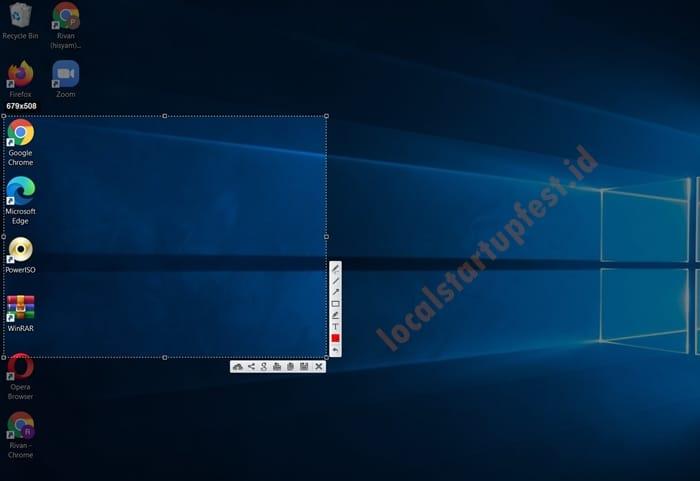 Cara Screenshot di Laptop dan PC dengan lightshot 8