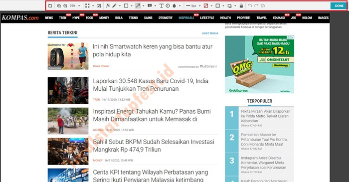 Cara Screenshot di Laptop dengan nimbus capture 14