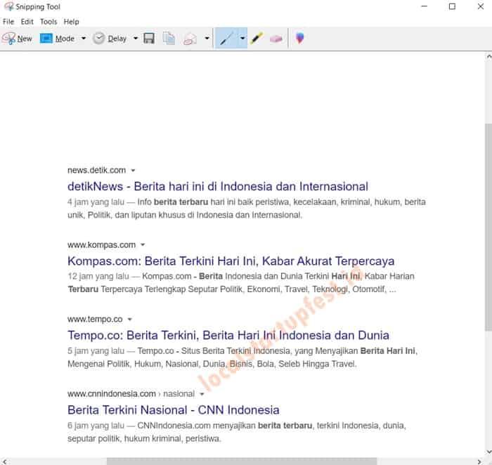 Cara Screenshot di Laptop dengan snipping tool 7