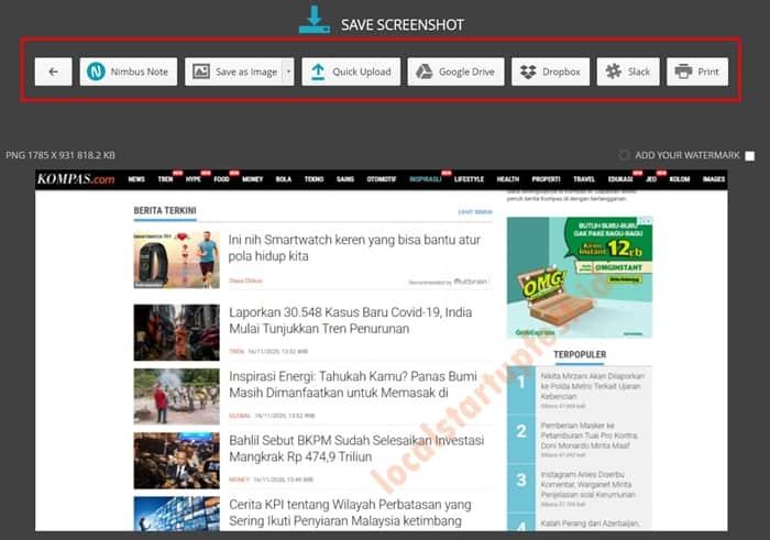 Cara Screenshot di PC dengan nimbus capture 15