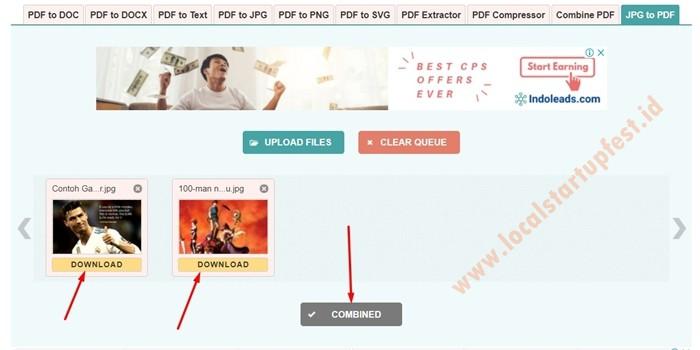 Mengubah JPG ke PDF Online dengan jpg2pdf 14