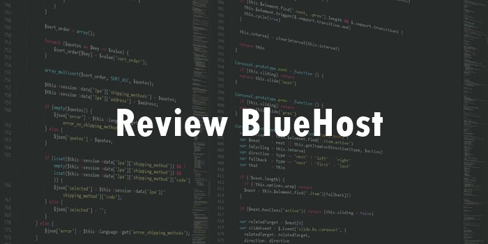 Review bluehost