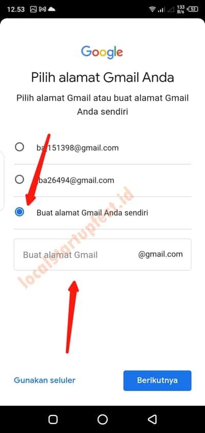 cara bikin email di hp14