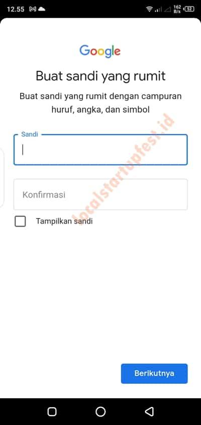 cara bikin email gmail di hp android 15