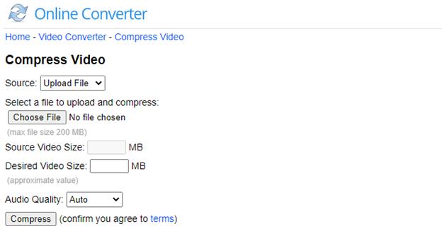 kompres video di hp lewat situs onlineconverter