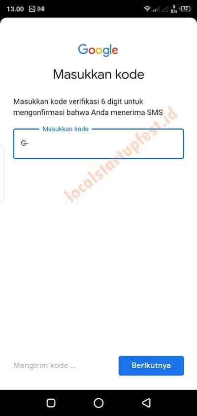cara memasukan kode verifikasi hp gmail 17