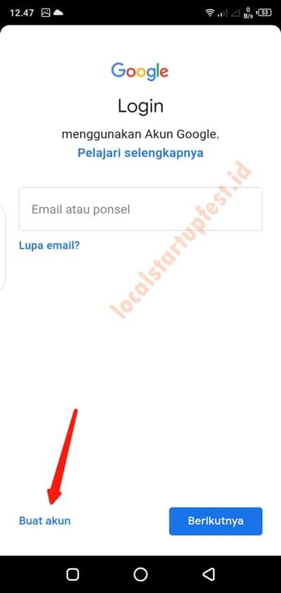 cara membuat email di android 11