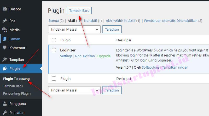 cara install plugin di cms worpress