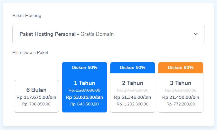 harga hosting website