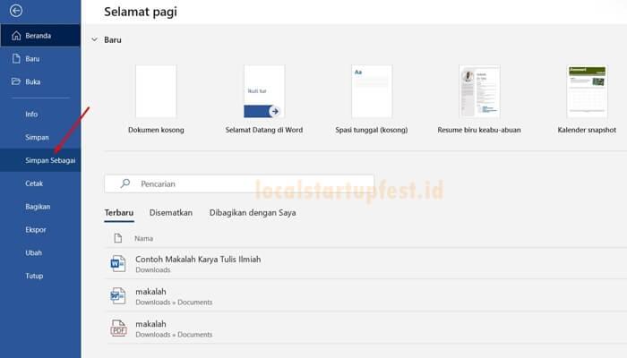 cara ubah word ke pdf dengan microsoft word 1