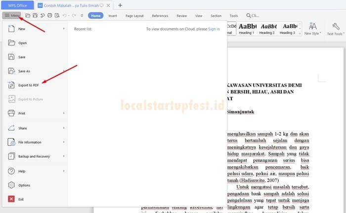 cara ubah word ke pdf dengan wps office 3