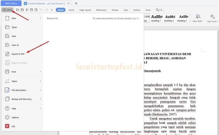cara ubah word ke pdf dengan wps office 4