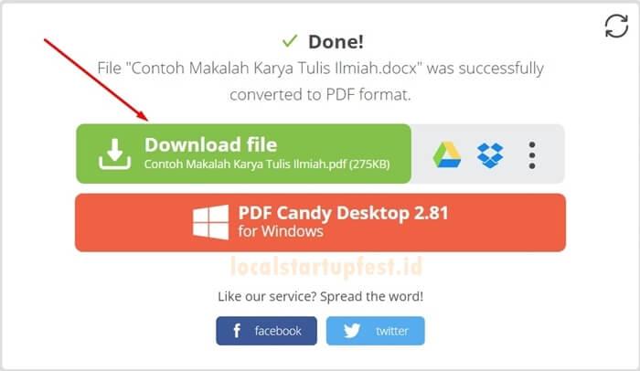 convert Word Ke PDF online 15