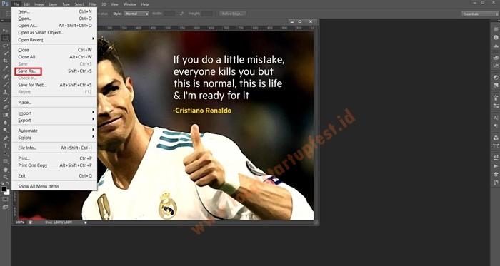 ubah JPG ke PDF Offline dengan photoshop 5